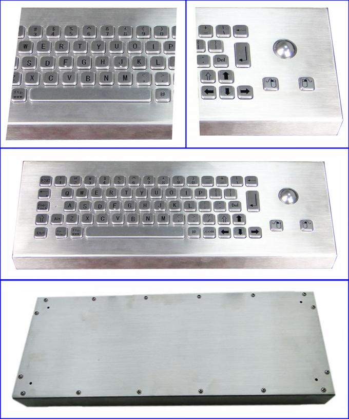 IP68 Industrial Keyboard With Trackball For Industrial Desktop Designed
