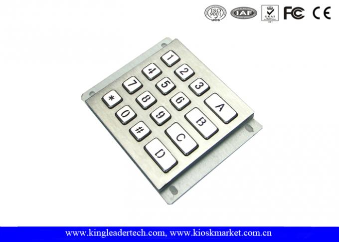 Rugged Waterproof Vandalproof Backlit Metal Keypad Stainless Steel Keypad