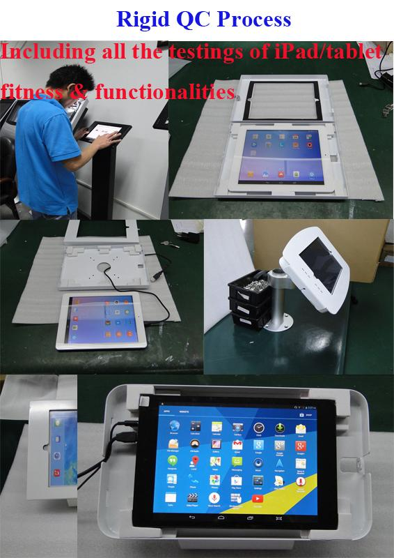 Public Display Stands Anti Theft Ipad Kiosk Stand With
