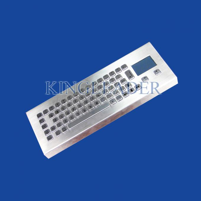 IP65 Rugged Mini Industrial Desktop Keyboard Metal With Touchpad