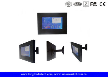 Rugged Android Tablet Displaying iPad Kiosk Floor Stand 10.1 Samsung Tablets