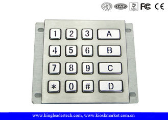 China Rugged Waterproof Vandalproof Backlit Metal Keypad Stainless Steel Keypad supplier