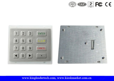 China 8 Pin SS Industrial Numeric Keypad with Flat Keys and Custom Layout supplier