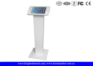 China Lockable Round Corner ipad kiosk holder , tablet kiosk enclosure with Rugged Stand supplier