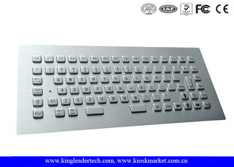 Rugged Panel Mount Stainless Steel  Keyboard with 12 Function Keys , CE / FCC