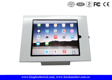 Desktop Mount 9.7 Secure Tablet Display Stand , Commercial Wall Mount Kiosk Enclosures