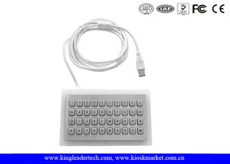 China Stainless Steel Mini Industrial Metal Keyboard With Optional Connectors supplier