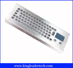 China IP65 Rugged Mini Industrial Desktop Keyboard Metal With Touchpad supplier