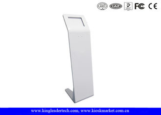 China Customized Freestanding Tablet Kiosk Stand With Large Area For Logo Printing supplier