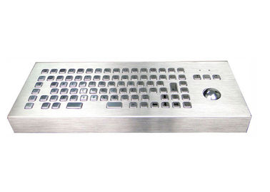 China Standing Alone Industrial Keyboard Waterproof With F1-F12 Function Keys / Mouse Ball supplier