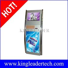 China Self serve ticketing kiosk with SAW touchscreen and two stainless steel poles supplier