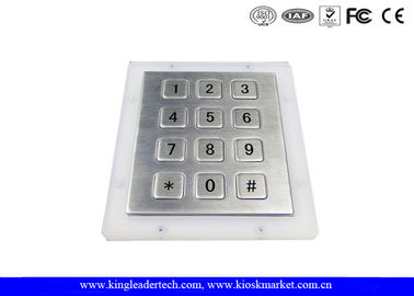 China Rugged Metal Numeric Keypad With 12 Short-Travel Keys Panel Mount supplier