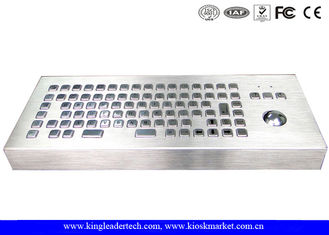 China 86 Keys Dust-proof Metal Industrial Computer Desktop Keyboard With Trackball supplier