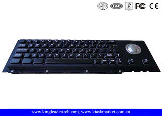 China Electroplated Black Cherry Key Switch Industrial Metal Keyboard With Trackball supplier