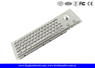 China IP65 Industrial Cherry Key Switch Kiosk Keyboard With Rugged Trackball supplier