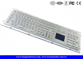China Customizable Industrial Keyboard With Touchpad Stainless Steel With High Vandal-Proof supplier