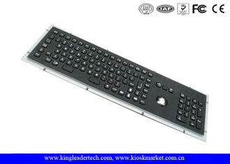 China Rugged Panel Mount Black Metal Keyboard With Trackball Function Keys And Number Keypad supplier