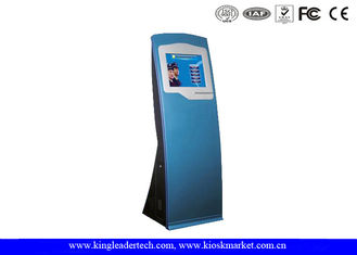 China Sleek Interactive SAW Or IR Touch Screen Kiosk Stand For Government Building supplier