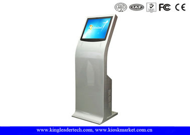 China Standalone Interactive Touch Screen Kiosks With Curved Design Indoor Service supplier
