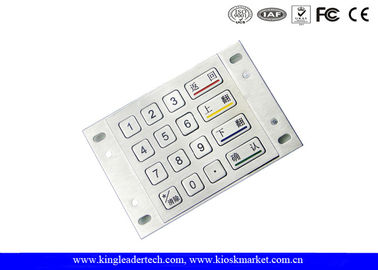 Panel Mount Numeric Metal Keypad In 4 x 4 Matrix For Game Machine And Kiosk