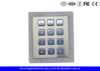 China Panel Mount Numeric Backlit Metal Keypad With 12 Illuminated Keys For Access Control System supplier