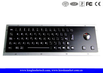 China Black Industrial Keyboard With Optical Trackball In Full Travel Keys At IP65 Rating supplier