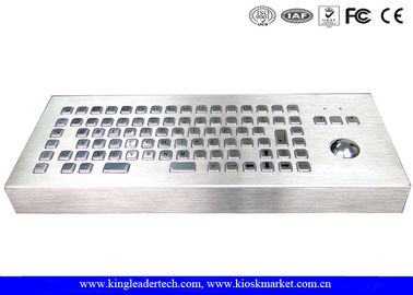 China Industrial Desktop Stainless Steel Keyboard 12 Keys F1 - F12 With Trackball supplier