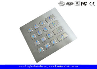 China Numeric Illuminated Backlit Metal Keypad 16 Keys for Security Access Control System supplier