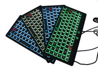 China IP68 Fully - Sealed Silicone Keyboard Mini Size USB Interface With Illuminated Backlit factory