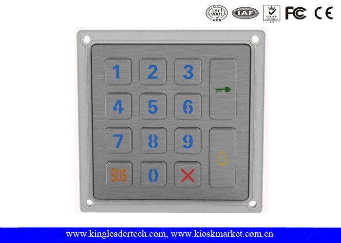 Silver 14 Keys Backlit Metal Keypad IP65 Waterproof Keypad 4x4 Datasheet