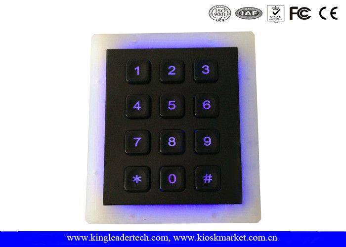 Gas Station Backlight Keypad 12 Key In 3x4 Matrix With Multi - Language