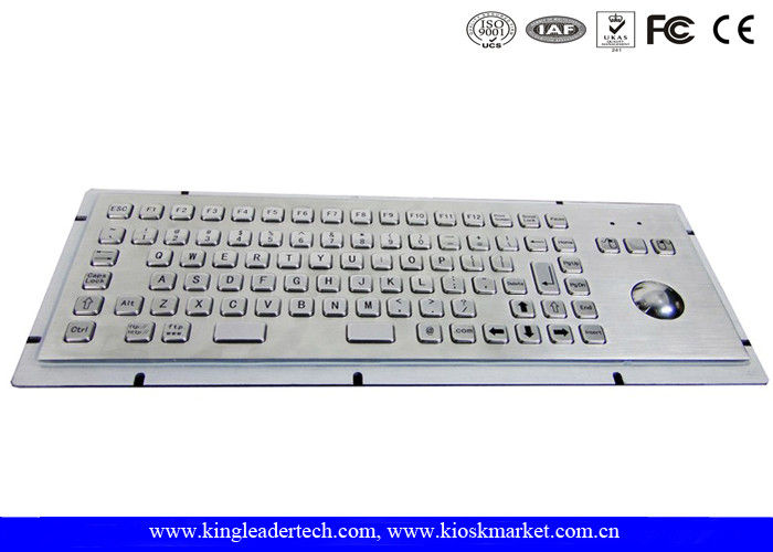 86 Keys IP65 Rated Stainless Steel Industrial Kiosk Keyboard With