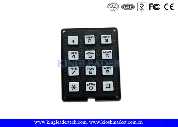Rugged Plastic Industrial Numeric Keypad With 12 Keys , Ideal For Access Control System , Public