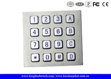 China Machine Use Industrial Keyboard Door Access Keypad with 16 Keys Layout Costomizable factory
