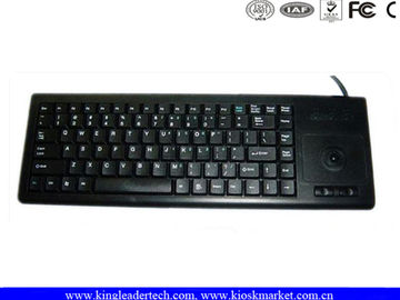 Plastic Integrated Industrial Computer Keyboard built with laptop style key and Trackball