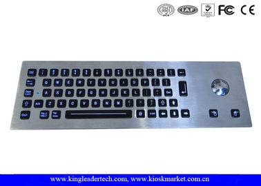 Backlight Panel mount rugged keypad Metal 65 full travel keys , integrated Trackball