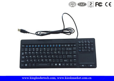 Medical Silicone Keyboard With Touchpad And Numeric Keypad In USB Interface