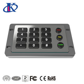 China Excellent Tactile Feel Backlit Metal Keypad , Weatherproof Keypad Customizable Key Layout factory