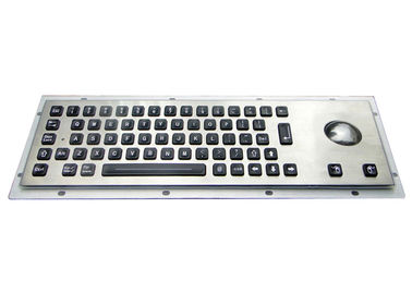Splash Resistant Stainless Steel Keyboard 64 Illuminated Keys With Trackball / Backlit