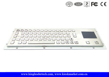 China Brushed Stainless Steel Industrial Keyboard With Touchpad IP65 With 64 Keys factory
