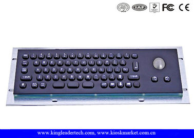 China IP65 Stainless Steel Black Compact 66 Keys Metal Keyboard With Trackball factory