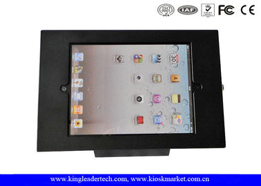 Desktop Black 9.7Inch Ipad Kiosk Enclosure With Security Lock For Anti-Theft