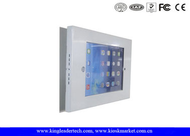 China Wall Mounted Rugged Metal Ipad Kiosk Enclosure With Slim Black Bracket For Ipad 2/3/4/AIR factory