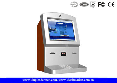 Customized Stylish Wallmount Kiosk With Camera , Thermal Receipt Printer , Cash Acceptor