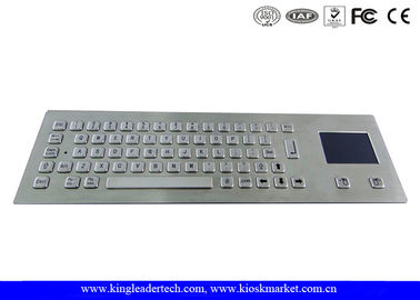 Rugged Metal Industrial Panel Mount Keyboard With Touchpad IP65 Waterproof
