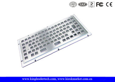 Stainless Steel Liquid-Proof Industrial Mini Kiosk Keyboard With 86 Keys