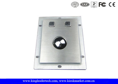 Rugged Panel-mount 38mm Optical Metal Trackball Industrial Pointing Device