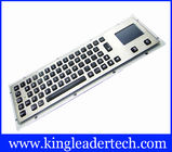Waterproof Illuminated Metal Keyboard With Touchpad And 64 Led Backlit Keys