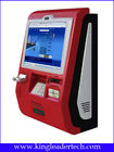 Touch Screen Customized Wall Mount Kiosk With Metal Keypad And Cash acceptor